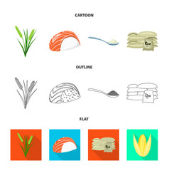 Crop and ecological logo vector