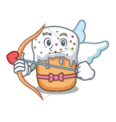 cupid easter cake character cartoon vector image