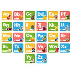 Cute cartoon alphabet for children for education vector