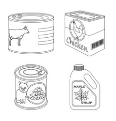 design of can and food symbol set of can vector image