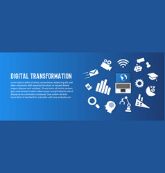 Digital transformation and new trend technology vector