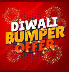 Diwali bumper offer sale promotional banner with vector