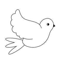 dove peace bird black and white vector image