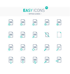 Easy icons 18e docs vector