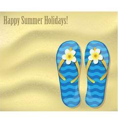 flip-flops on sand vector image
