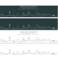 Florence single line skyline banner vector