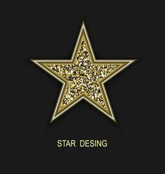 golden glitter stargolden glitter star vector image