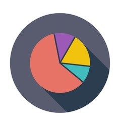 Graph single flat icon vector image