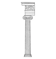 Greek ionic minor vintage engraving vector