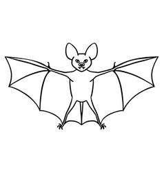Hand-drawn bat vector
