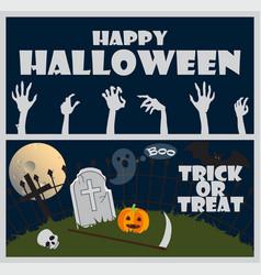Happy halloween trick or treat vector