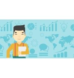 Happy successful businessman vector