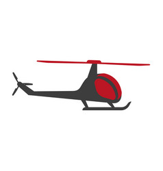 helicopter flying aircraft transporting choppe vector image