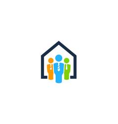 home job logo icon design vector image
