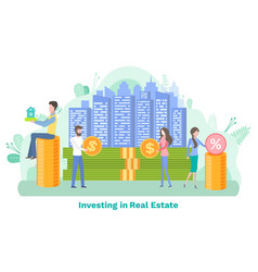 invest in building real estate economic vector image