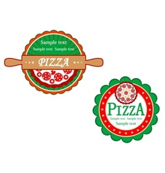Italian pizza symbols and banners vector