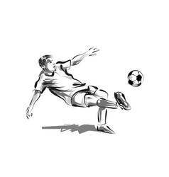 line sketch soccer vector image
