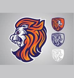 lion-head-logo-emblem-2019 vector image
