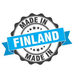 Made in finland round seal vector