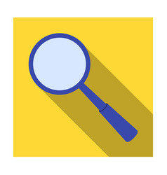 magnifying glass icon in flat style isolated on vector image