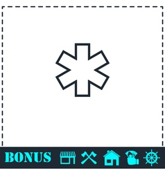 Medical icon flat vector image