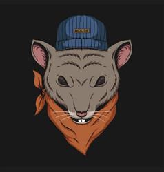 Mouse head bandana vector