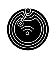 Nfc microchip glyph icon vector