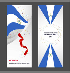 nicaragua happy independence day confetti vector image