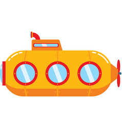 Orange submarine vector