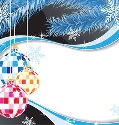 Original Christmas decorations vector image