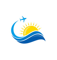 plane flight summer vector image