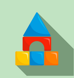 plastic kid castle icon flat style vector image