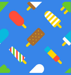 popsicle ice cream seamless pattern flat design vector image