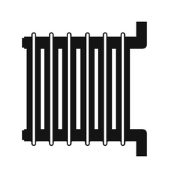 Radiator black simple icon vector image