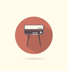 radiogram round flat icon vector image
