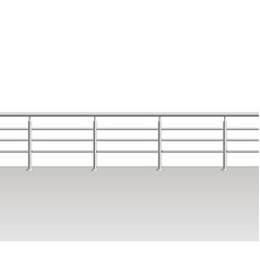 realistic detailed 3d metal modern balcony vector image