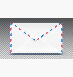 retro mail envelope shape with texture effect vector image