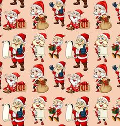 Seamless santa clause vector image