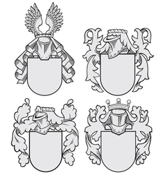 Set of aristocratic emblems No9 vector