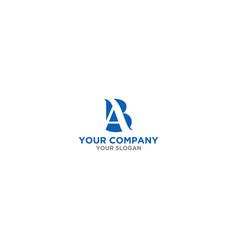 Simple ba logo design vector