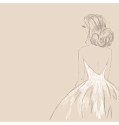 Sketch of the bride vector image