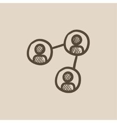 Social network sketch icon vector