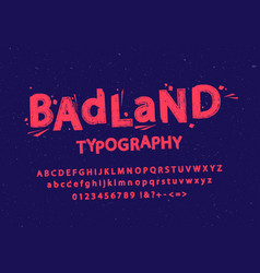 stylized grunge and cracked font vector image