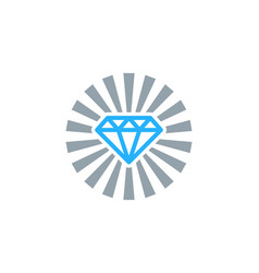 sun diamond logo icon design vector image