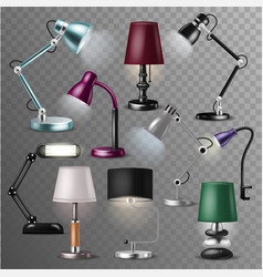 table lamp desklamp and realistic reading vector image