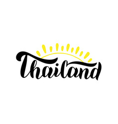 Thailand typography font design trendy lettering vector
