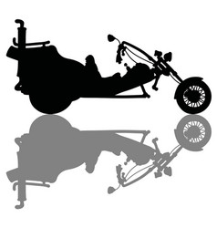 the silhouette of a motor tricycle vector image