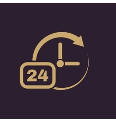 Time clock icon Time and watch timer 24 hours vector