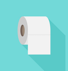 toilet paper flat icon modern flat icon vector image