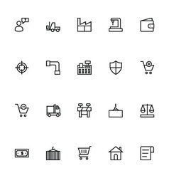 Trade Outline Icons 4 vector image vector image